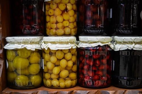 ผลไม้ดองที่มักใช้ขัณฑสกรณ์ในการดองผลไม้