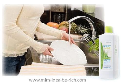 ผลิตภัณฑ์ล้างจาน neatly home สะอาดไร้สารตกค้าง