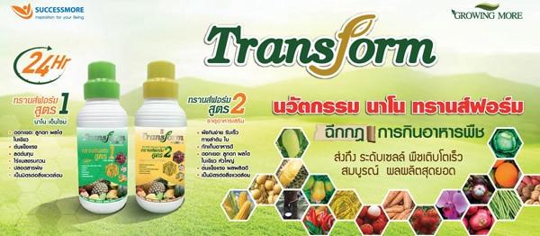 เพิ่มผลผลิตให้กับพืชผักผลไม้ ด้วยปุ๋ยน้ำคุณภาพเยี่ยม Transform