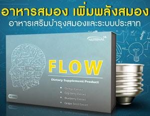 อาหารเสริมบำรุงสมอง และระบบประสาท FLOW เพิ่มพลังสมอง