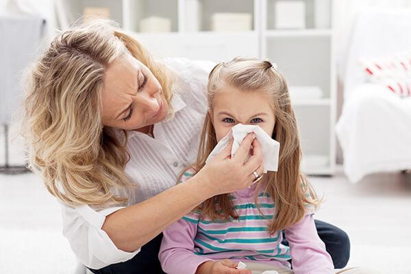 โรคภูมิแพ้ หรือแพ้อากาศ จะพบในเด็กมากกว่าผู้ใหญ่