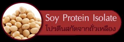 โปรตีนสกัดจากถั่วเหลือง soy protein isolate