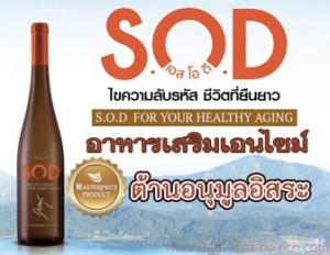 เครื่องดื่มเอนไซม์ S.O.D อาหารเสริมต้านอนุมูลอิสระ บำบัดโรค