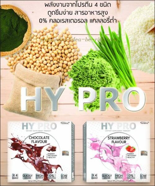 เสริมโปรตีน เพิ่มกล้ามเเนื้อด้วยอาหารเสริมโปรตีน Hy Pro