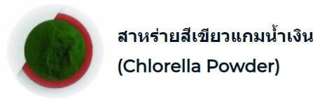 สาหร่ายสีเขียวแกมน้ำเงิน (Chlorella Powder)