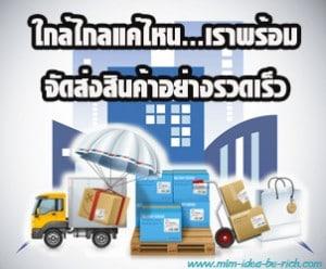บริการจัดส่งสินค้าอย่างรวดเร็ว ไม่ว่าจะอยู่ในประเทศหรือต่างประเทศ