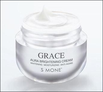 ผิวขาวใสด้วยครีมหน้าขาวใส grace aura cream