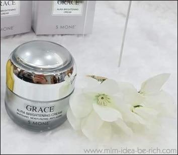 หน้าใสด้วยครีมเกรซออร่า Smone' Grace Aura Brightening Cream