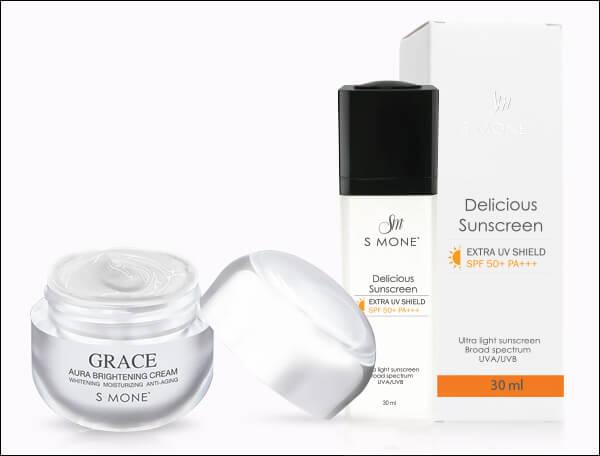 หน้าใสไร้สิว ด้วยครีมกันแดด Delicious Sunscreen และครีม Grace Aura