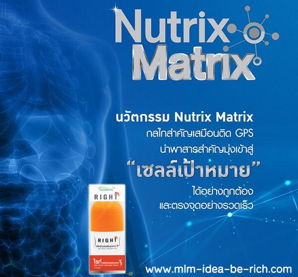 อาหารเสริมลดน้ำหนัก RIGHT ใช้นวัตกรรม Nutrix Matrix ที่ช่วยลดน้ำหนักอย่างตรงจุดและรวดเร็ว