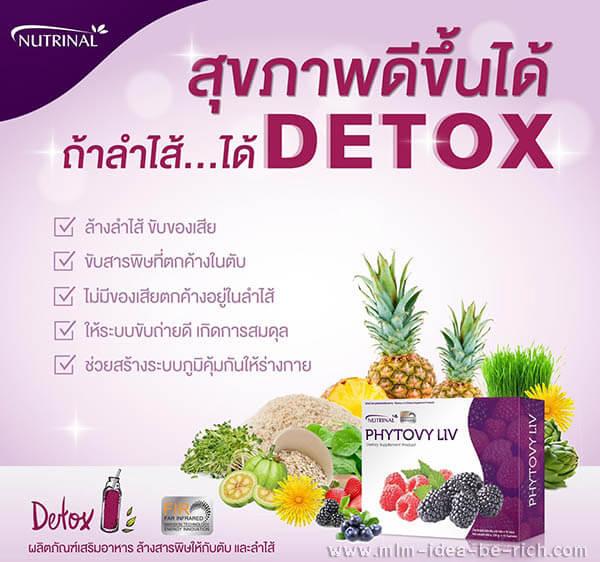 อาหารเสริมล้างพิษตับและล้างลำไส้ ไฟโตวี่ลีฟ Detox