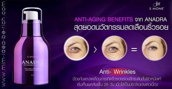เซรั่มลดริ้วรอย anadra anti-aging serum ซัคเซสมอร์
