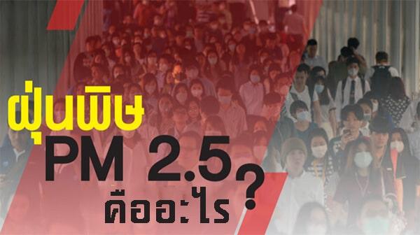 ฝุ่นพิษ PM 2.5 คืออะไร