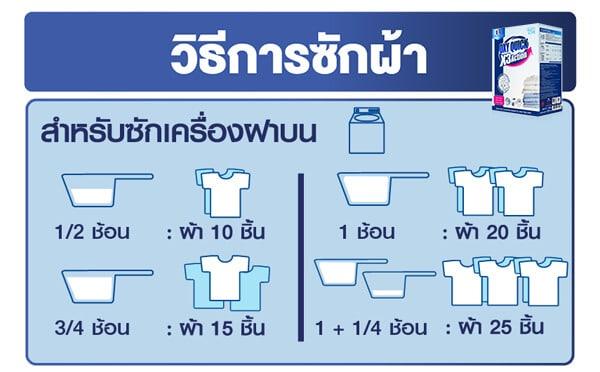 วิธีซักผ้าด้วยเครื่องฝาบน Oxy Quick Top loading wash