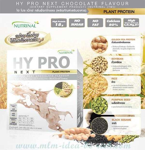 อาหารเสริมโปรตีนจากพืช ไฮโปรเน็กซ์ Nutrinal Hy Pro Next